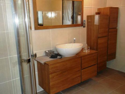 Avant renovation douche r novation salles de bains for Douche a l italienne avec galets