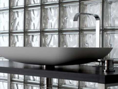 Pose briques de verre am nagement salle de bains grenoble pose carrelage - Pose carreaux de verre ...