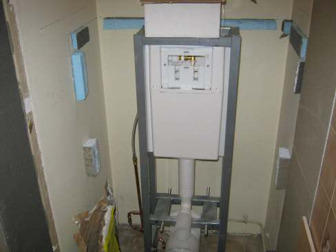 Installation Pose Wc Suspendu Habillage Coffrage Caisson